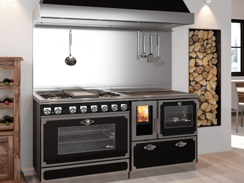 Cucina economica a legna combinata